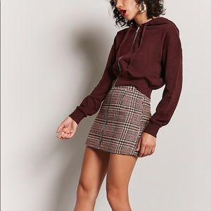 Classic Woolen Plaid Skirt